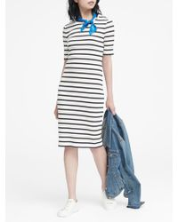 a18d434c9ea Lyst - Banana Republic Stripe Rib-knit T-shirt Dress