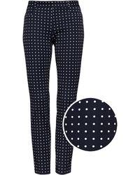 Banana Republic - Sloan Skinny-fit Polka Dot Ankle Pant - Lyst