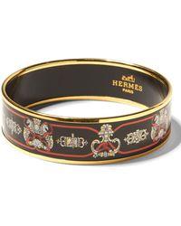Banana Republic - Luxe Finds | Hermès Gold Enamel Wide Bangle - Lyst