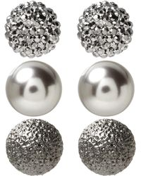 Banana Republic Factory - 3-pack Noir Ball Stud Earrings - Lyst
