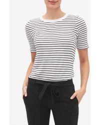 33ee1bc4 Banana Republic Factory - Stripe Malibu Elbow Sleeve Crew Neck T Shirt -  Lyst