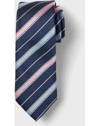 Banana Republic Factory - Anti-stain Blue Pink Stripe Tie - Lyst