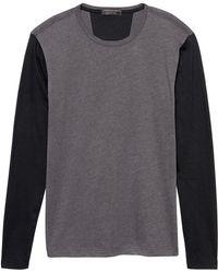 Banana Republic Factory - Contrast Sleeve Moisture Wicking T Shirt - Lyst
