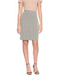 Banana Republic Factory - Geo Jacquard Knit Pencil Skirt - Lyst