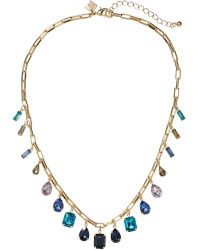 Banana Republic Factory - Faceted Stone Chain Necklace - Lyst