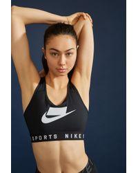 f7b316fa4c1 Lyst - Nike Seamless Bralette in Black