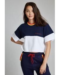 Perfect Moment - Blocked Cropped Tee - Lyst