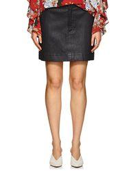 Robert Rodriguez - Leather Miniskirt - Lyst