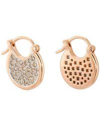 Pamela Love - Mini Mojave White Diamond Hoop Earrings - Lyst