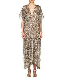 Eres - Scale Leopard-print Cotton Caftan - Lyst