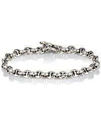 Hoorsenbuhs - Diamond & Silver 'h' Chain - Lyst