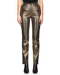 Fiorucci - Yves Metallic Cigarette Straight Jeans - Lyst