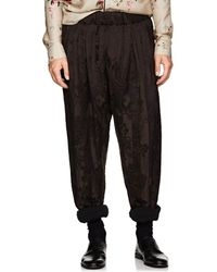 Haider Ackermann - Striped Floral Linen-blend Harem Pants - Lyst