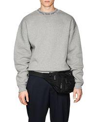 Acne Studios - Flogho Logo-crewneck Cotton Sweatshirt - Lyst