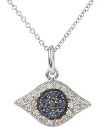Ileana Makri - Diamond & Sapphire Kitten Eye Pendant Necklace - Lyst