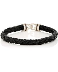 Zadeh Sterling Silver & Braided Leather Bracelet