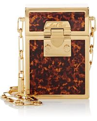 Mark Cross - Nicole Tortoiseshell Mini Brass Box - Lyst