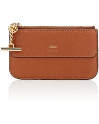 Chloé - Drew Leather Top-zip Card Case - Lyst