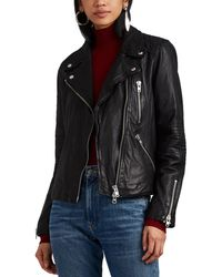 Barneys New York - Quilted Leather Moto Jacket - Lyst