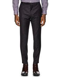 Paul Smith - Plaid Wool Flannel Slim Trousers - Lyst