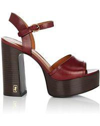 4f3c5e136288 Marc Jacobs - Lust Status Leather Platform Sandals - Lyst