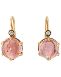 Cathy Waterman - Tourmaline & Diamond Drop Earrings - Lyst