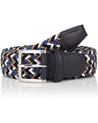 Barneys New York - Braided Elastic Belt - Lyst