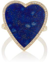 Jennifer Meyer - Lapis-lazuli-inlay & Diamond Heart Ring - Lyst