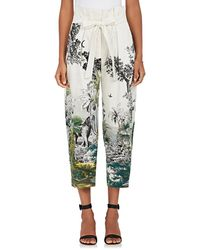 Alberta Ferretti - Jungle-print Cotton - Lyst