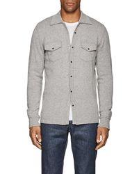 Eleventy - Cashmere Sweater Shirt - Lyst