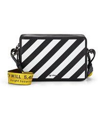 ed8c2c89077c Off-White c o Virgil Abloh Striped Textured-leather Shoulder Bag in ...