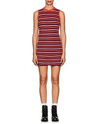 The Elder Statesman - Striped Cashmere Skater Dress - Lyst