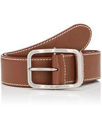 Prada - All Designer Products - Leather Belt - Lyst