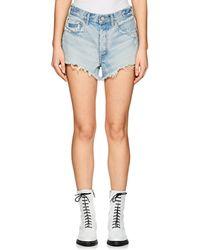 Moussy - Etna Distressed Denim Cutoff Shorts - Lyst
