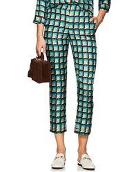 Barneys New York - Geometric Silk Pyjama Trousers - Lyst