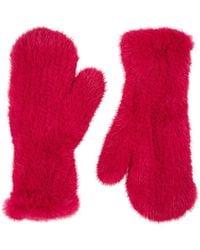 Barneys New York - Knitted Mink Fur Mittens - Lyst