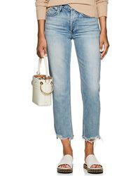 3x1 - W3 Higher Ground Distressed Crop Jeans - Lyst