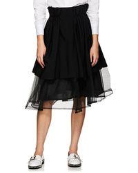 Noir Kei Ninomiya - Tulle Layered Full Skirt - Lyst