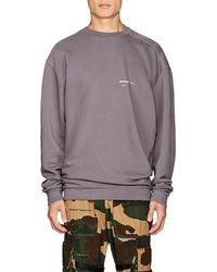 37e5e7e7e8a0 Off-White c o Virgil Abloh Twisted Vintage Cotton Sweatshirt in Gray ...