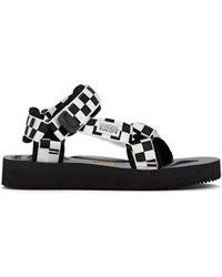 f23783f5ebe Suicoke - Checkerboard Nylon Slingback Sandals - Lyst