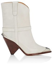 Isabel Marant - Lamsy Leather Ankle Boots - Lyst