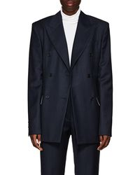 Calvin Klein - Checked Wool Double - Lyst