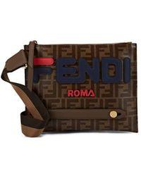 Fendi - Coated Canvas Messenger Bag - Lyst