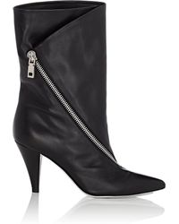 Givenchy - Point Toe Leather Ankle Boots - Lyst