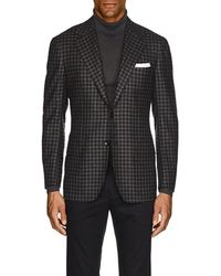 Kiton - Kb Checked Cashmere Two-button Sportcoat - Lyst