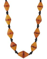 Linda Lee Johnson - Baltic Amber Beaded Necklace - Lyst