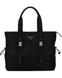Prada - Leather-trimmed Tote Bag - Lyst