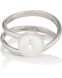 VIOLA.Y JEWELRY - Swarovski-pearl-embellished Coiled Ring - Lyst