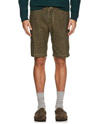 Massimo Alba - Striped Linen-cotton Shorts - Lyst