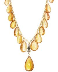 Cathy Waterman - Golden Tourmaline Briolette Necklace - Lyst